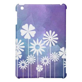 モダンな花の紫色のiPadの箱 iPad Miniカバー