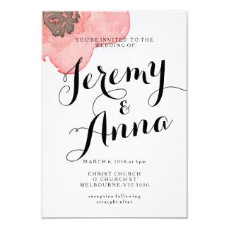 モダンな花の結婚式の婚約の招待状 カード