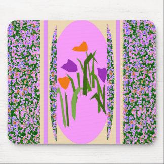 モダンな花デザイナーマウスパッドの春の花 マウスパッド