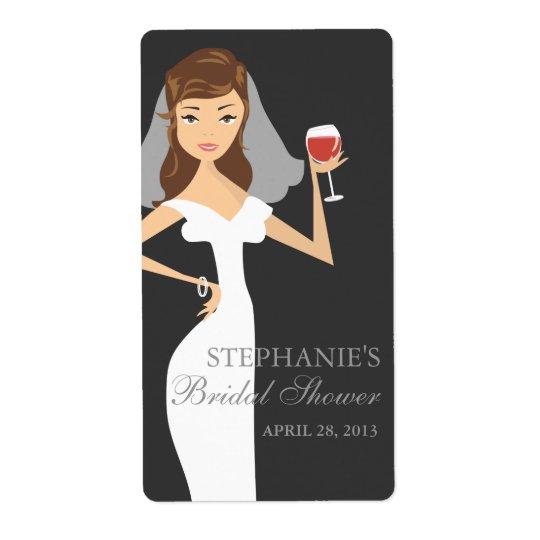 モダンな花嫁のブライダルシャワーのワインのテーマのラベル ラベル
