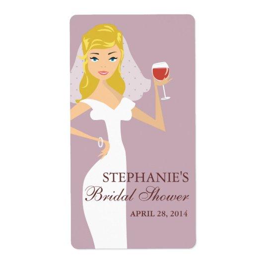 モダンな花嫁のブライダルシャワーのワインのテーマのラベル 発送ラベル