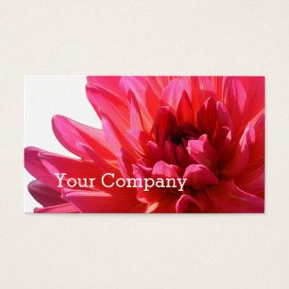 モダンな花屋のイベントのスタイリストのピンクのダリアの花 名刺