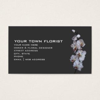 モダンな花屋の名刺-蘭 名刺