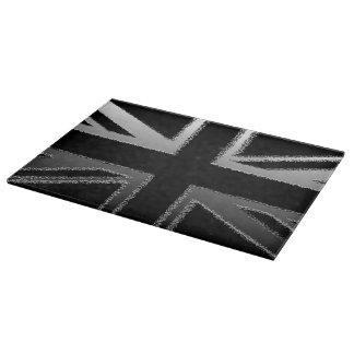 モダンな英国国旗のガラスまな板 カッティングボード