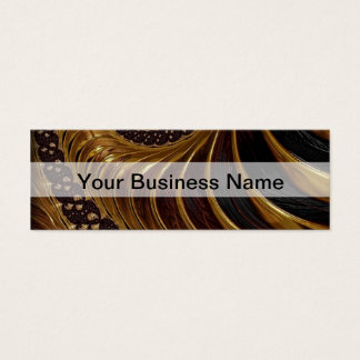 モダンな茶色のフラクタルの螺線形パターン スキニー名刺