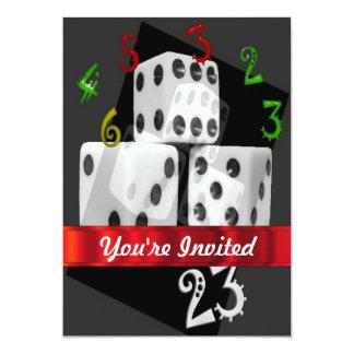 モダンな賭博のサイコロ カード