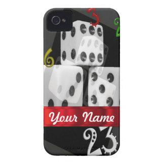 モダンな賭博のサイコロ Case-Mate iPhone 4 ケース