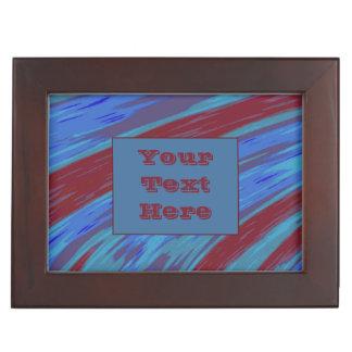 モダンな赤い青色の棒 ジュエリーボックス