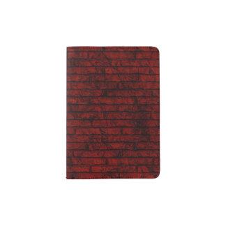 モダンな赤レンガの壁のパスポートのホールダー パスポートカバー
