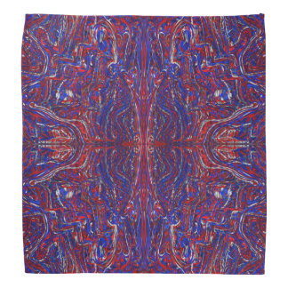 モダンな赤白青の抽象芸術の渦巻 バンダナ