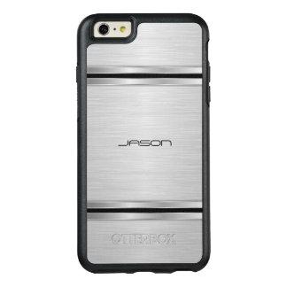 モダンな銀および黒い金属デザイン オッターボックスiPhone 6/6S PLUSケース