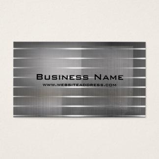 モダンな銀のストライプな名刺 名刺