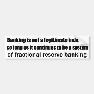 モダンな銀行業のオーストリアの思考 バンパーステッカー