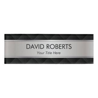 モダンな銀製の金属ストライプのなプロフェッショナル 名札