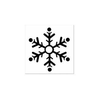 モダンな雪片 ラバースタンプ