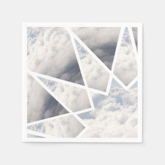 モダンな雲の曼荼羅の紙ナプキンHALPINのクリエイティブ スタンダードカクテルナプキン