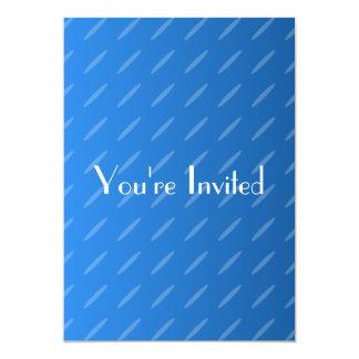 モダンな青の抽象芸術。 薄い楕円形パターン カード
