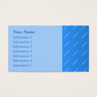 モダンな青の抽象芸術。 薄い楕円形パターン 名刺