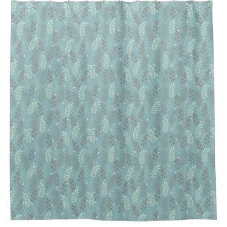 モダンな青はシャワー・カーテン分岐します シャワーカーテン