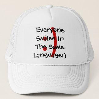 モダンな顔文字の電子メール及び雑談の帽子は受諾を広げました キャップ