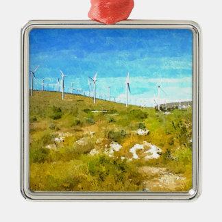 モダンな風車 メタルオーナメント
