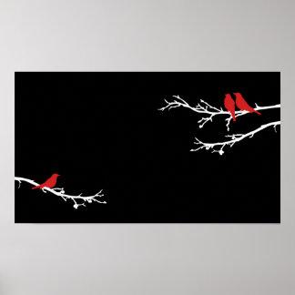 モダンな鳥 ポスター