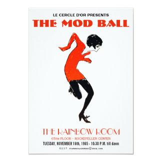 モダンな60年代のダンスパーティーのヴィンテージの招待状 カード