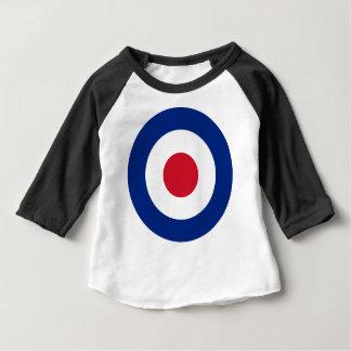 モダンな-クラシックなRoundel -中心点のアーチェリーターゲット ベビーTシャツ