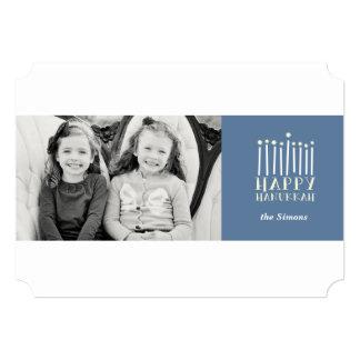 モダンな(ユダヤ教)メノラーハヌカー カード