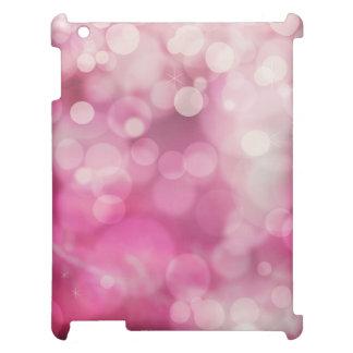 モダンな《写真》ぼけ味の輝きのピンクのきらめきパターン iPad カバー