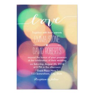 モダンな《写真》ぼけ味ライトエレガントな原稿愛結婚式 カード