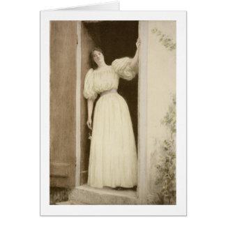 、「モダンな」L'Estampeから待っています出版されたパリ カード