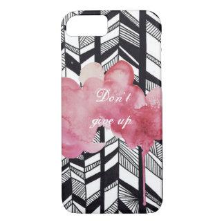 モダンなblack&whiteパターンピンクのしぶきiPhone7 iPhone 8/7ケース