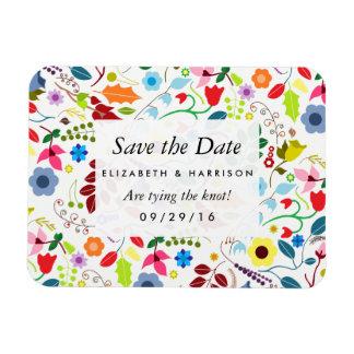 モダンなBohoのシックな花の結婚式の保存日付 ビニールマグネット