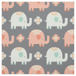 モダンなBoho象の子供部屋の生地 ファブリック