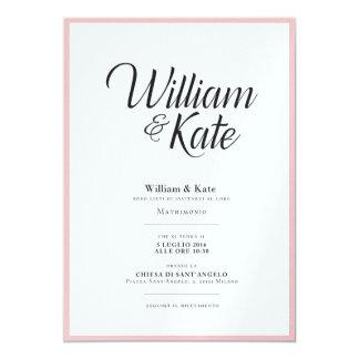 モダンなeのシンプルの結婚式招待状 12.7 x 17.8 インビテーションカード