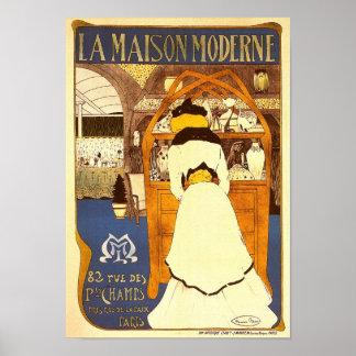 モダンなLa MaisonモーリスBiais ポスター