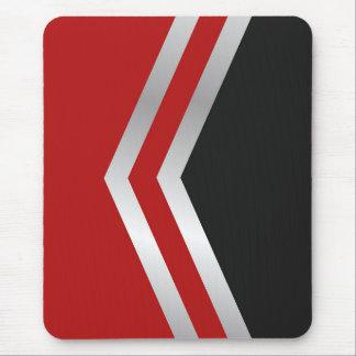 モダンなmousepad、黒、赤、灰色、白、抽象芸術 マウスパッド