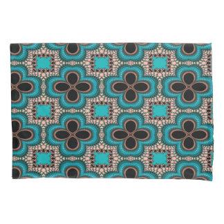 モダンなPrerttyの抽象的で青および黒い継ぎ目が無い 枕カバー