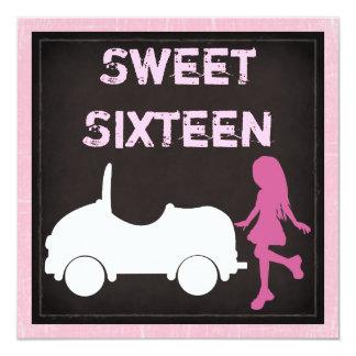 モダンなSweet sixteenの誕生日の招待状 カード