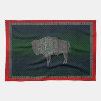 モダンによってWyomingiteの除去される旗 キッチンタオル