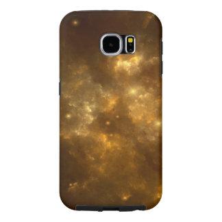 モダンのクールで美しい金ゴールドの星雲、星及び宇宙- SAMSUNG GALAXY S6 ケース