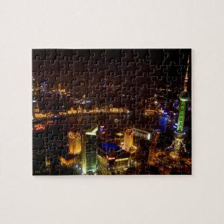 モダンの上海の中国のすばらしいスカイライン ジグソーパズル
