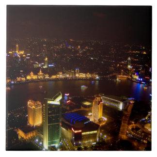 モダンの上海の中国のすばらしいスカイライン タイル