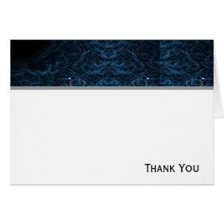 モダンの抽象的で青いレンズ カード