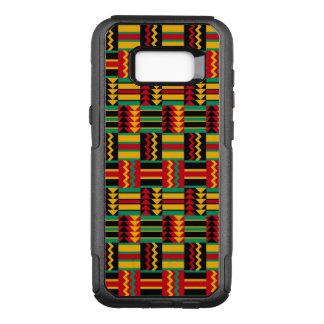 モダンの抽象的なアフリカの芸術のプライドの赤い黄色緑 オッターボックスコミューターSamsung GALAXY S8+ ケース