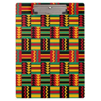 モダンの抽象的なアフリカの芸術のプライドの赤い黄色緑 クリップボード