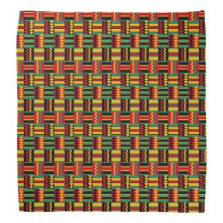 モダンの抽象的なアフリカの芸術のプライドの赤い黄色緑 バンダナ