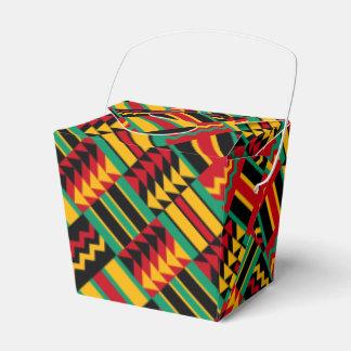 モダンの抽象的なアフリカの芸術のプライドの赤い黄色緑 フェイバーボックス