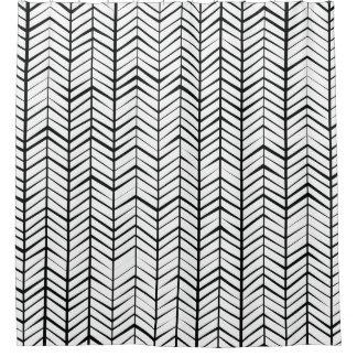 モダンの抽象的なシェブロンのジグザグ形 シャワーカーテン